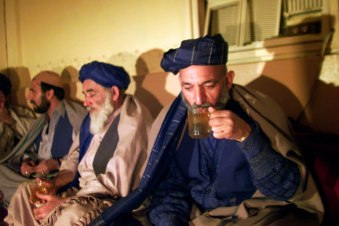 Hamid Karzai in December, 2001, before he is selected to lead Afghanistan.