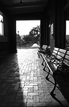 Train Station Bench