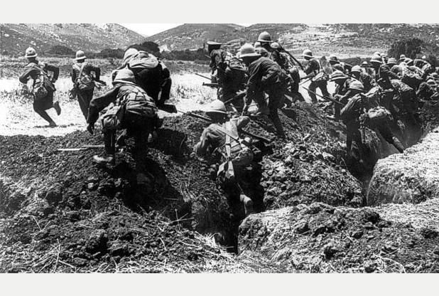 ANZAC Soldiers on the Gallipoli Peninsula