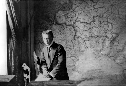 Alexander Kerensky and Map