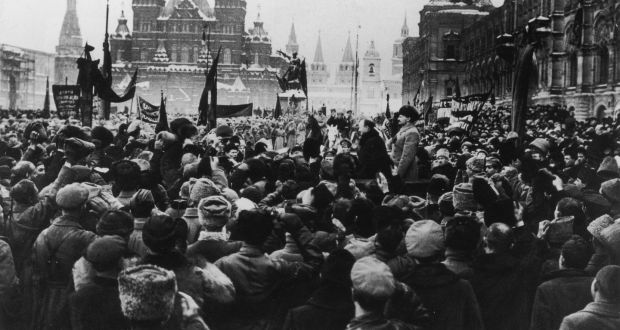 Trotsky speaking in Red Square