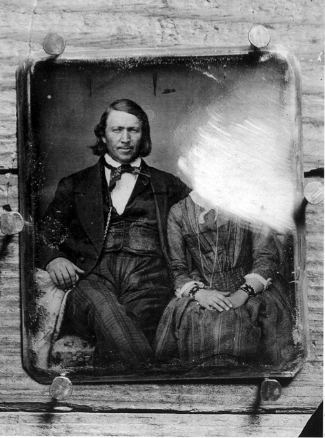 Brigham Young with Unknown Woman