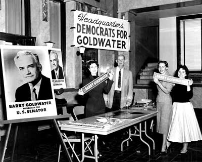 Phoenix Democrats campaigning for Goldwater in 1958.