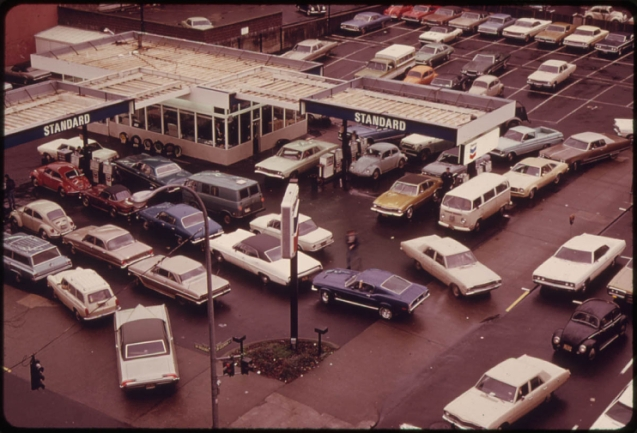 Gas rationing in Portland, Oregon, in December, 1973, as a response to the oil embargo.