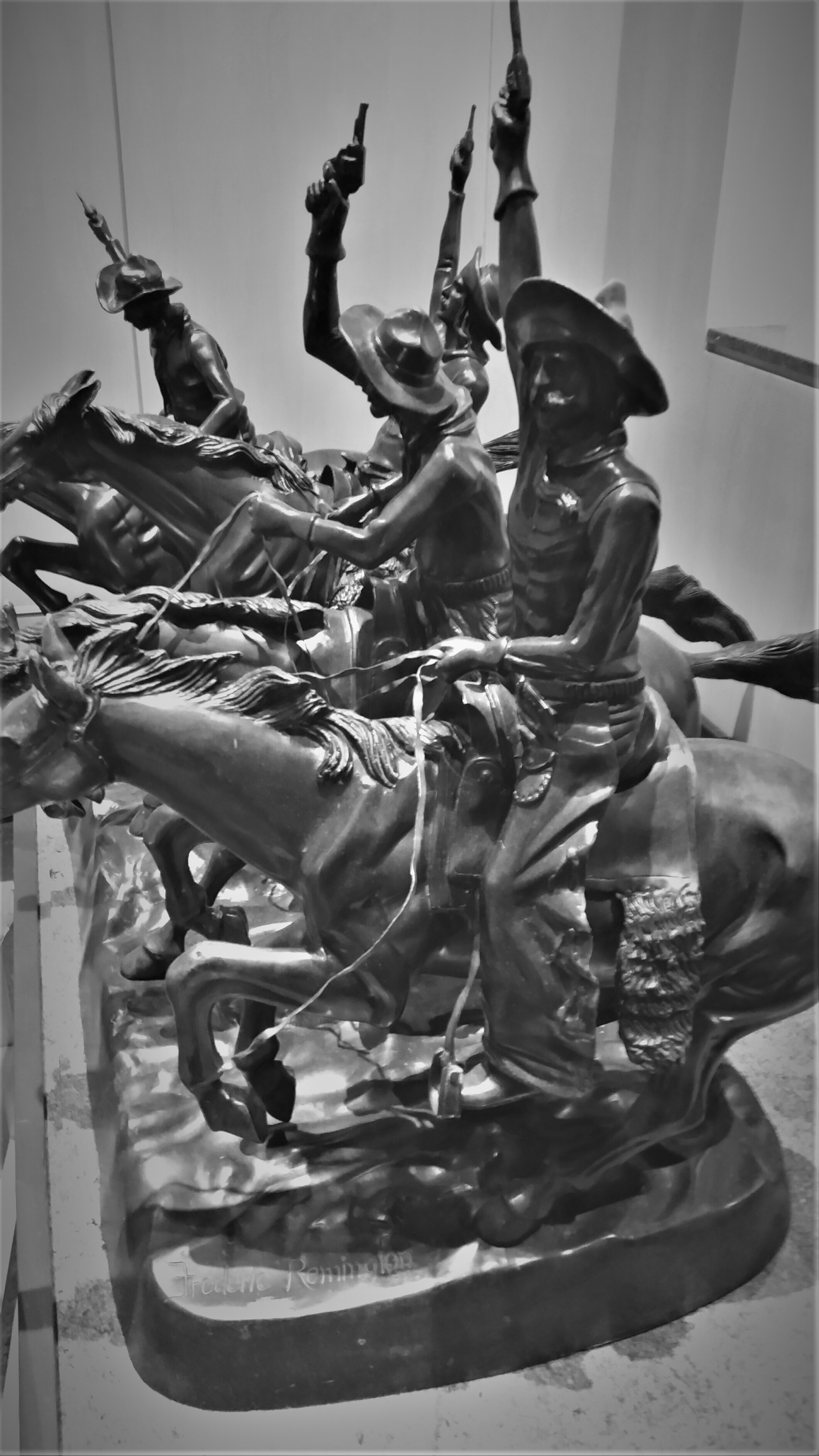 four horseman of the western statue